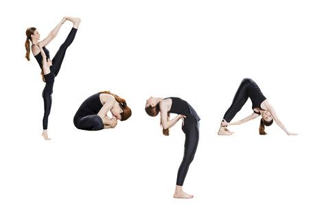 spelled: Word yoga spelled in poses