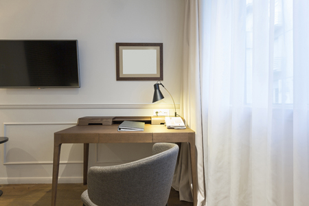 home office: Interior of a home office