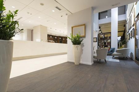 hotel bar: Luxury hotel lobby interior Stock Photo
