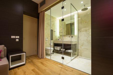 hotel suite: Bathroom in a modern luxury hotel suite