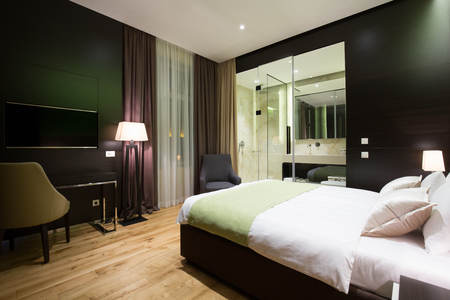 suite: Modern luxury hotel suite interior