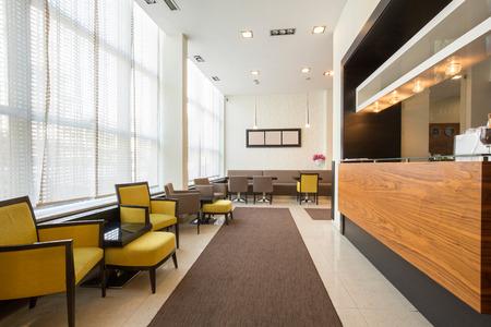 Elegant hotel cafe interior