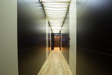 hotel building: Modern hotel building corridor