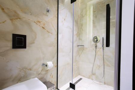 bathroom interior: Modern luxury hotel bathroom interior