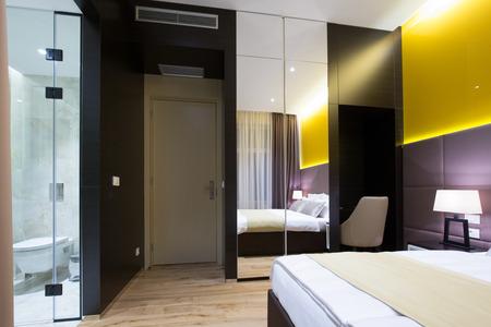hotel suite: Modern luxury hotel suite interior