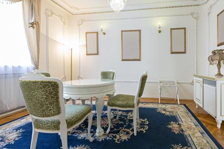 interior room: Dining room interior Stock Photo