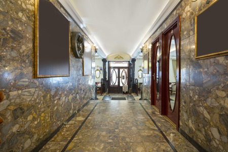 Marble corridor in a hotel