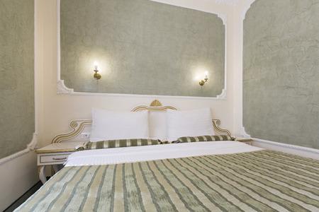 luxury room: Interior of  luxury double bed hotel room