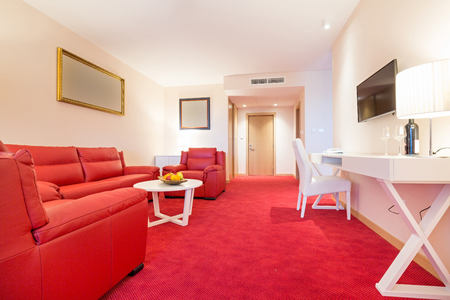 hotel suite: Interior of a modern hotel suite