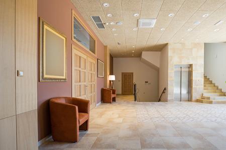 Corridor in an elegant hotel
