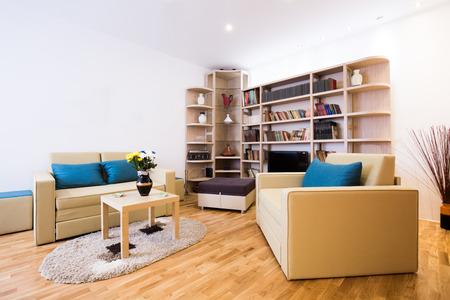 interior room: Modern living room interior Stock Photo