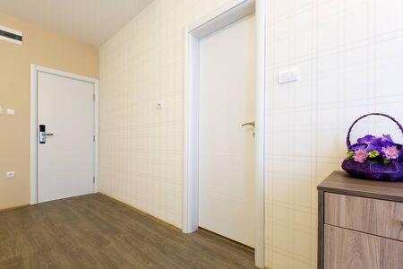 interior room: Hotel interior, room doors Stock Photo