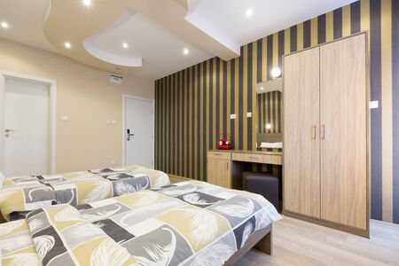 master bedroom: Hotel bedroom with master bed