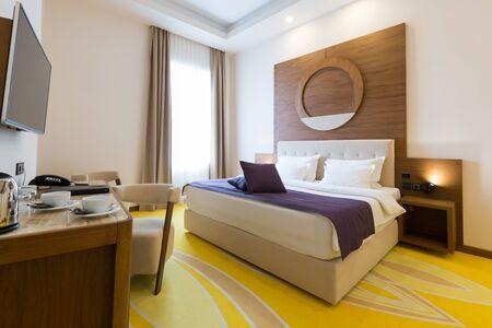 modern bedroom: Modern new hotel bedroom interior