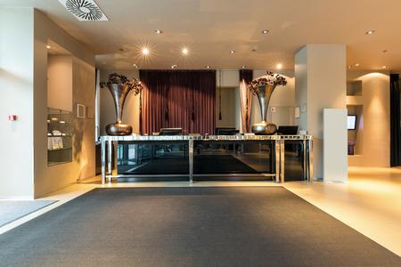 Reception desk in luxury hotel