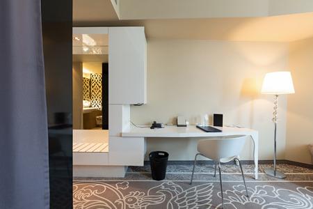 modern living room: Luxury hotel room interior Stock Photo