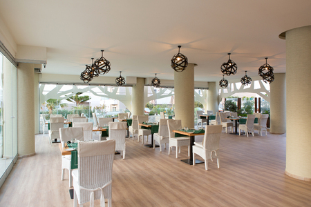 Interior of a hotel restaurant Stock Photo - 114558079