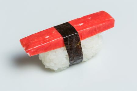Nigiri crab sushi Imagens