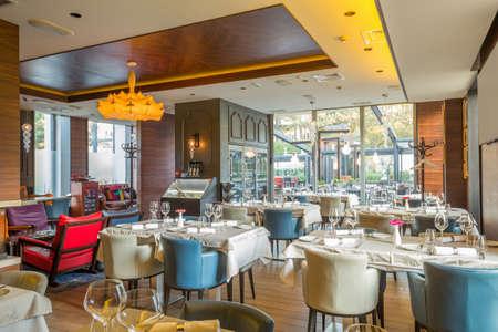 Interior of a modern restaurant
