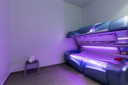 Sun tanning salon interior in hotel spa