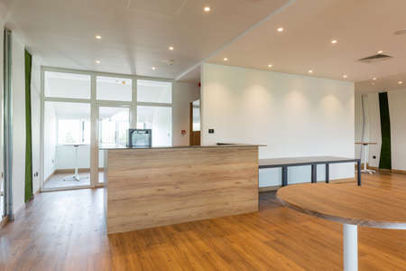 Reception desk in modern office building Archivio Fotografico
