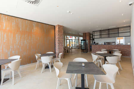 Interior of a empty hotel restaurant