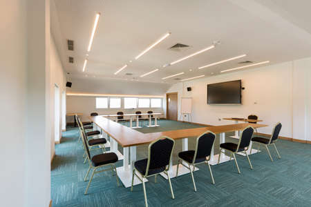 Interior of a conference room in a hotel
