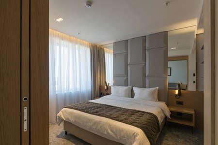 Interior of a luxury hotel bedroom