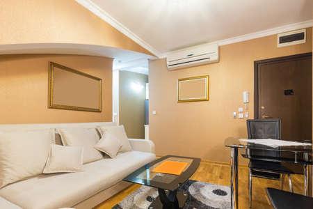 Interior of a loft apartment living room