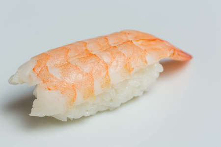 Nigiri sushi on white background