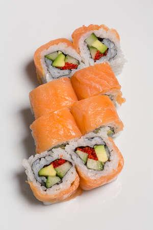 Sushi set with caviar