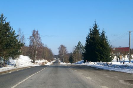 forest railway: It is a winter road in Lithuania.