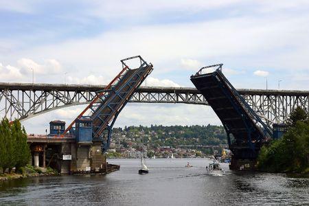Seattle Fremont bridges Imagens