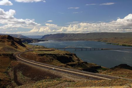 Columbia River, a view from a viewpoint near Grand Coulee Dam