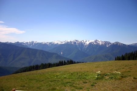 A view from Hurricane Ridge viewpoint, Olympics National Park, Washington State