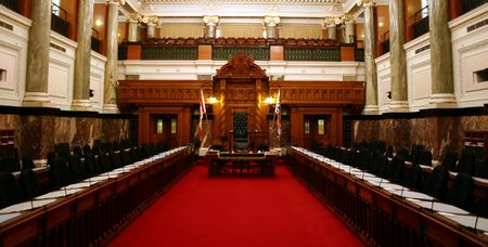 Parliament room: Legislative Assebly of British Columbia in Canada Imagens