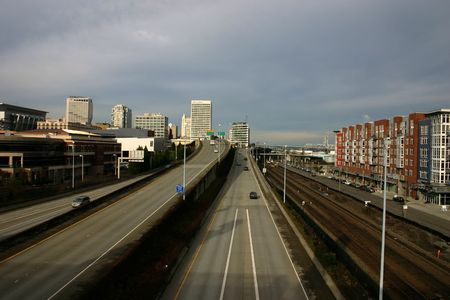 divide: Highways divide Tacoma into two parts, Washington state