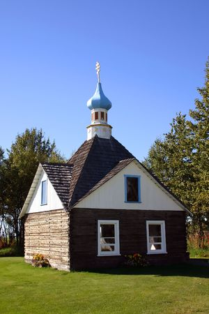 Russian Orthodox church in Alaska, monument of Russian heritage in America Imagens