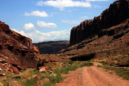 An alternative road to the Canyonlands National Park in Utah photo