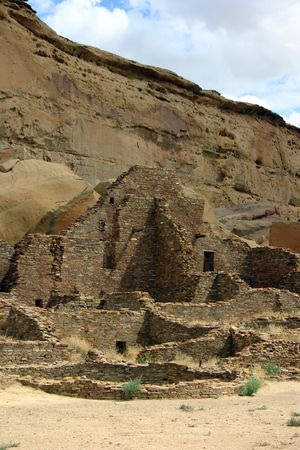Ruins of Anasazi buildings in New Mexico, Chaco Canyon