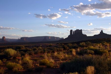 Remonte view of Monument Valley from a road in New Mexico