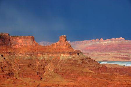 canyonland: Rain is falling on Canyonlands in Canyonland national park, Utah