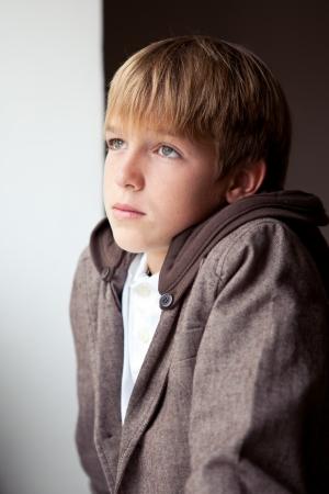 Portrait of sad teen outdoor