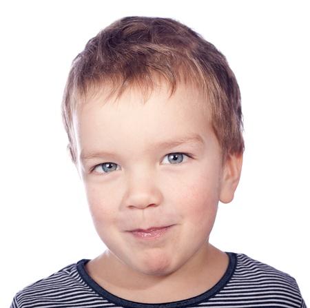 Portrait of  small  boy, isolation