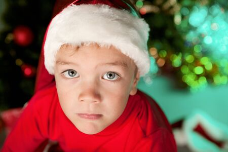 Small child in santa hat Stock Photo - 15511163