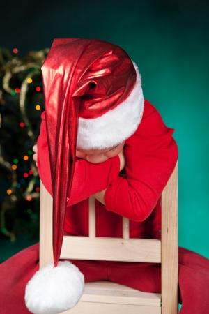 Small child in santa hat Stock Photo - 15465131