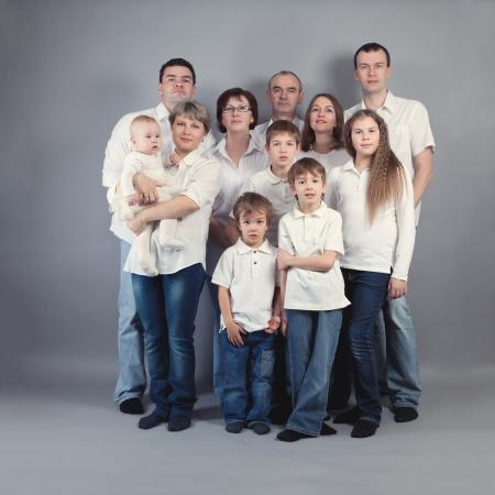 large family: Big family portrait, studio