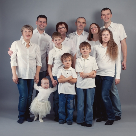 Big family portrait, studio