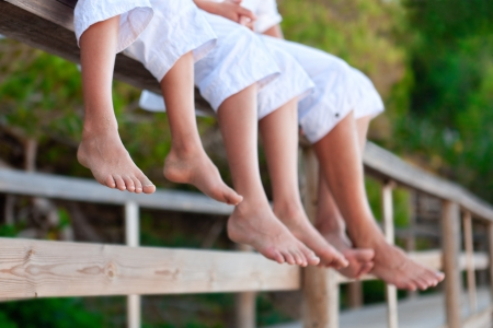 Photos of bare feet,, outdoor photo