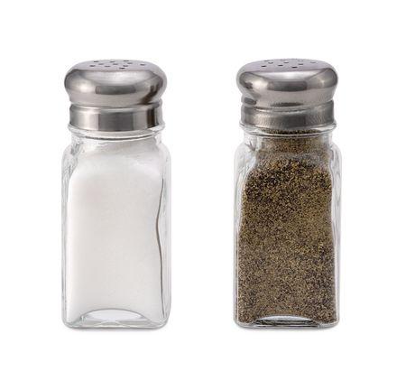 塩 & コショウ 写真素材